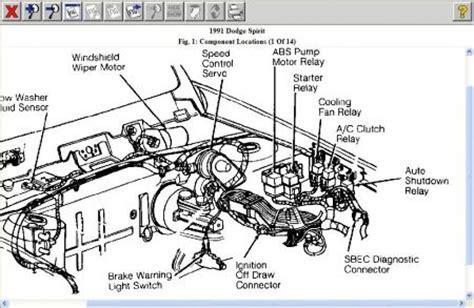 1991 Dodge Spirit Fuel Pump Electrical Problem 1991 Dodge