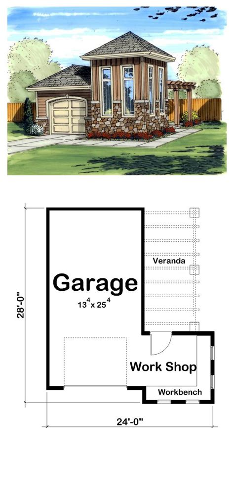 one car garage dimensions mediterranean traditional garage plan 41125