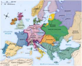 Europe 1500 Outline Map by 442referencemaps