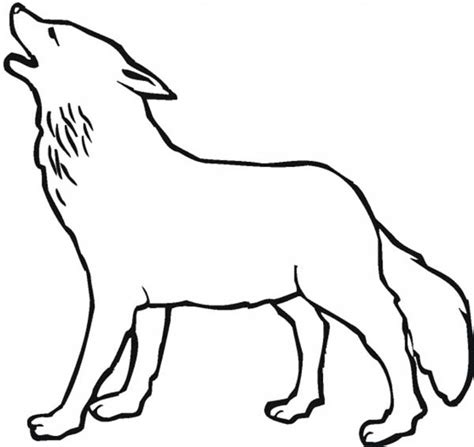 the wolf howling at moon coloring pages