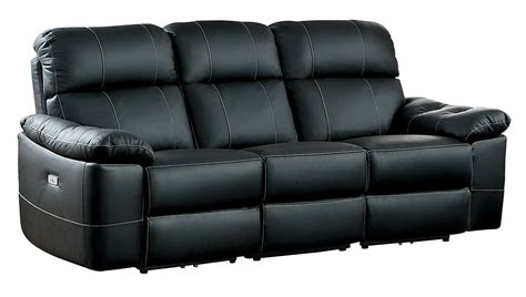 modern genuine leather sofa homelegance nicasio contemporary all genuine leather power