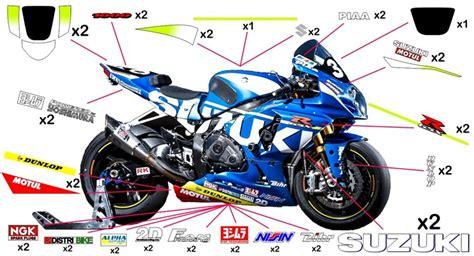 Moto Gp Aufkleber Set Suzuki by Stickers Suzuki Sert Ewc 2015 Gsx R 600 Gsx R 750 30th