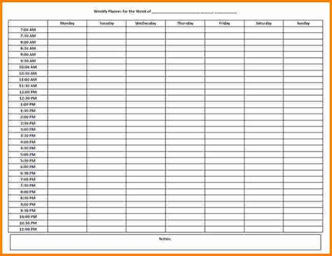 week hour schedule template 10 week schedule template cashier resume