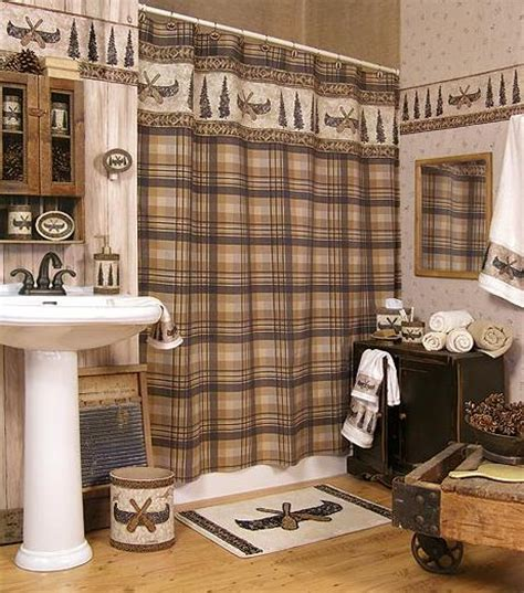 Lodge Bathroom Accessories Canoe Creek Lodge Cabin Decor Bathroom Accessories Product Gallery Wallpaper Murals