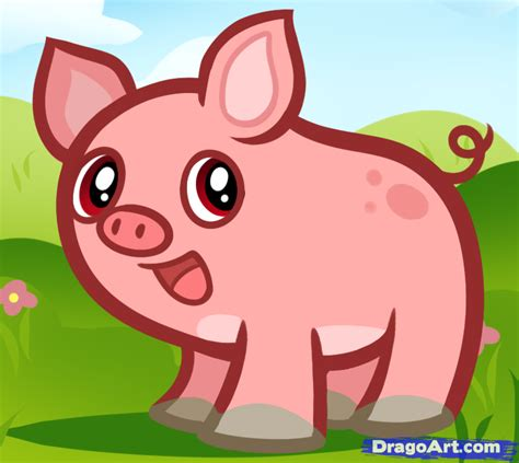 how to a pig how to draw pigs for step by step animals for for free