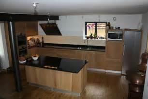 cuisine bois verre et marbre noir cuisine moderne d