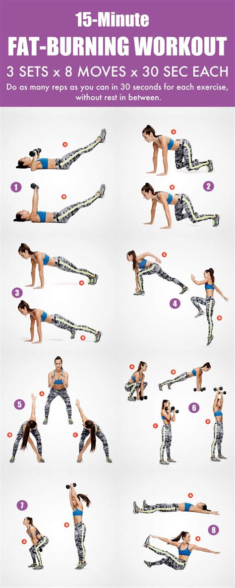 15 minute total burning workout routine