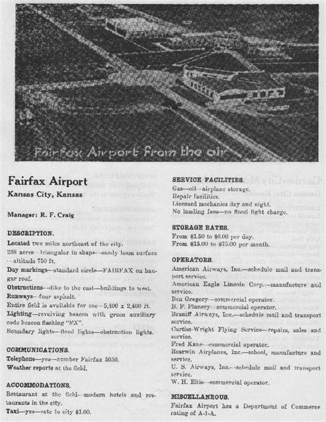 the richards field kansas city mo page of the davis monthan airfield register website
