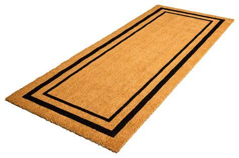 modern doormats classic border coir doormat modern doormats by decoir