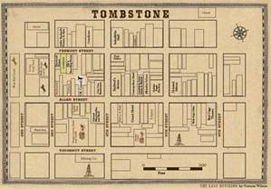 Tombstone Arizona Map by Arizona Map Tombstone