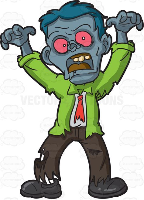 clipart zombie a scary looking zombie clipart by vector toons