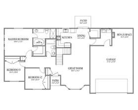 House Plans Rambler Floorplans Rambler House Plan Ashborn Main Floor Rambler