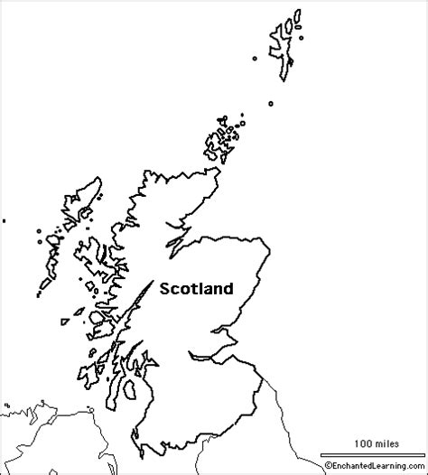 Scottish Outline by Scotland Outline Gallery