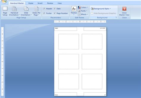 microsoft powerpoint tutorial handout view the handout master handout master 171 slides