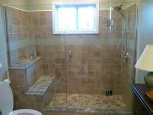 pictures of tiled showers with glass doors custom tile shower with frameless glass door yelp