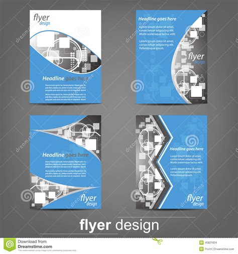 Set Of Business Flyer Template Corporate Banner Or Cover Design Stock Vector Image 45821834 Flyer Banner Templates