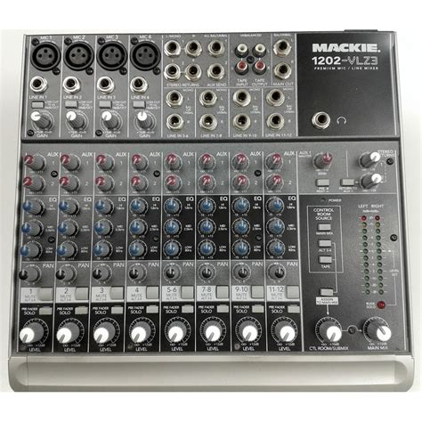 Mixer Audio Recording mackie 1202 vlz3 12 channel professional compact recording