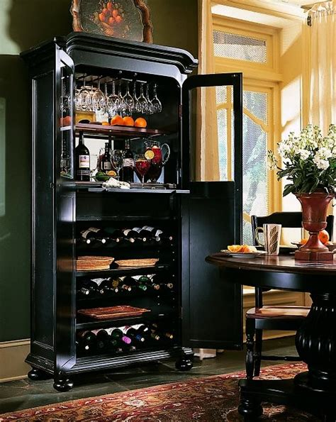 indigo creek wine cabinet black finish with rub through