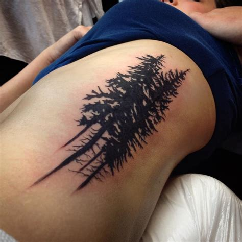 silhouette tattoos pacific northwest oregon tree silhouette by nic