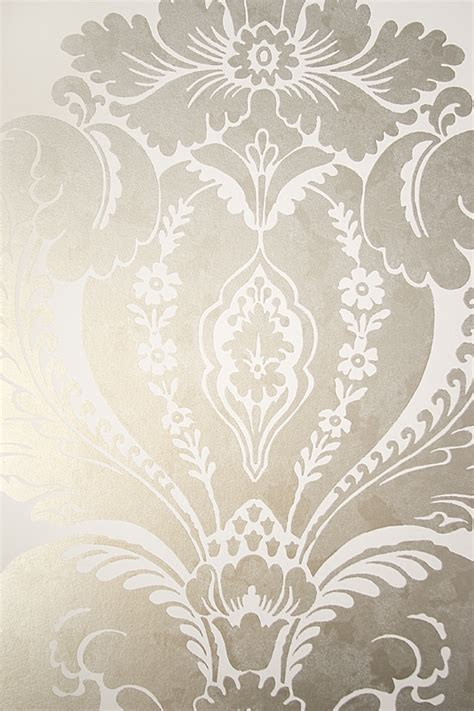 baudelaire damask wallpaper large print metallic mottled