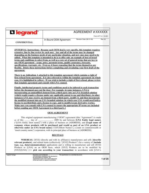 oem agreement template 13 oem distribution and license agreement sles