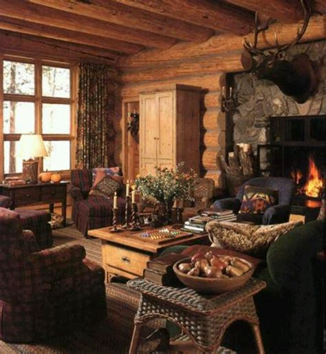 log cabin living room decor living room cabin decor pinterest