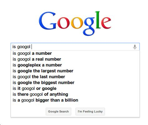 if a site has a large number of junk pages in the index is the 1 4 googol and googolplex pointless large number stuff