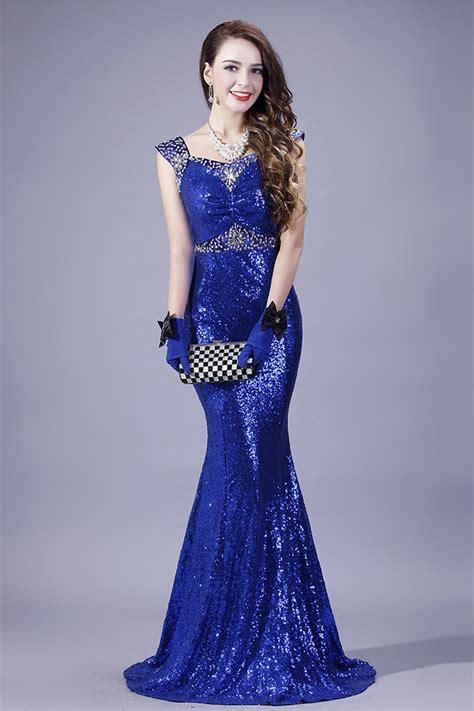 royal blue beaded dress mermaid sweetheart royal blue sequin beaded evening prom