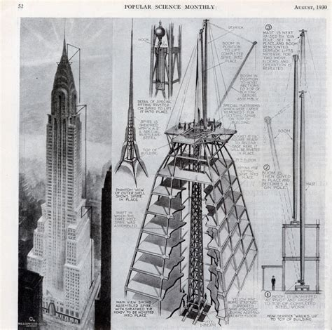 Chrysler Building Blueprint by Chrysler Building Data Photos Plans Wikiarquitectura