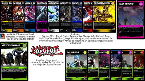 magix set editor custom card template yu gi oh evolution magic set editor template by