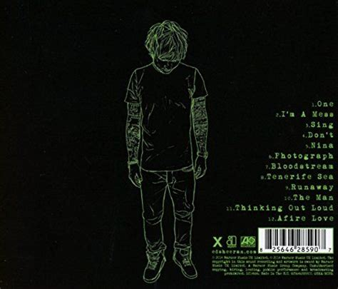 download mp3 album x ed sheeran ed sheeran s cd back of quot x quot art 131 branding ideas