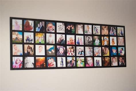 picture collage ideas how to decorate with photos for a milestone birthday