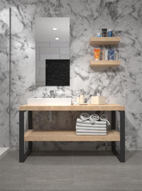 mobili bagno legno naturale mobile da bagno stile industriale in legno di larice july