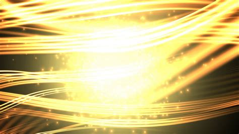 golden wavy horizontal lines p sparkling moving