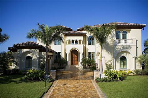 style of house stylish hacienda home style design with three arched