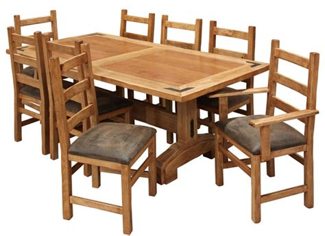 Bench Dining Room Table Set Rustic Lodge Dining Table Set Rustic Cabin Dining Table Set