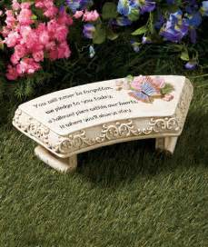 solar power memorial accent bench lighted butterfly and