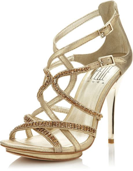Sandal Kelsey 6899 8a Ori muted gold strappy heels on the hunt