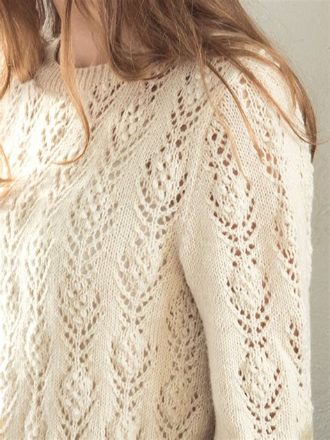 knitting pattern lace jumper rosabella free lace flower sweater knit pattern knitting bee