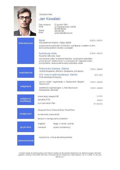 format cv pl resume format model za cv