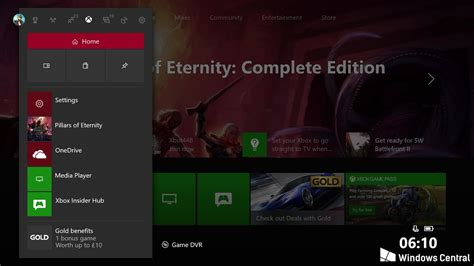 xbox one home layout change hands on with the fluent design xbox one dashboard video
