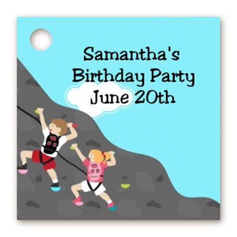 Climbing Birthday Card Birthday Party Favor Tags Rock Climbing Favor Tags