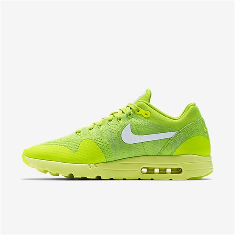 Sneakers Nike Air Max 1 Flyknit Volt nike air max 1 ultra flyknit volt electric green white mens shoes sale cheap