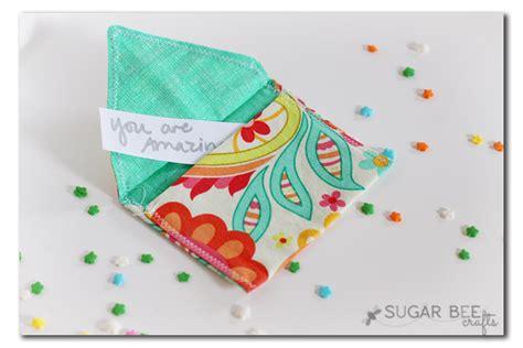 fabric crafts quick fabric envelopes sugar bee crafts