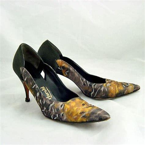 narrow high heel shoes 60s dominic romano metallic high heel shoes 8 narrow