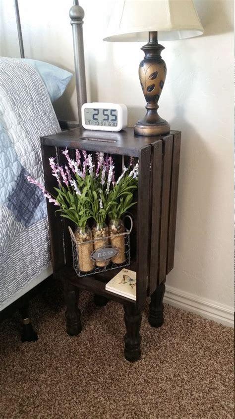 Bedroom End Tables Diy Best 25 Crate Nightstand Ideas On Diy
