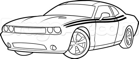 How To Draw A Challenger Step By Step draw a 2014 dodge challenger step by step drawing sheets