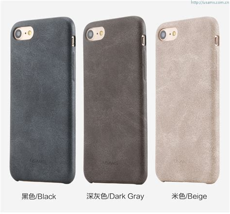 Softcase Bob Series Leather Slim Luxury Soft Cover Iphone 7 7s usams apple iphone 7 plus bob series leather cover