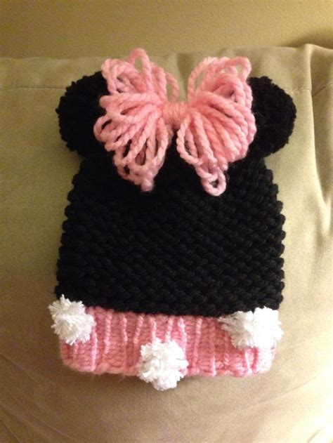 loom knit minnie mouse hat mickey mouse hats on the loom studio design gallery