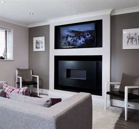 tv above gas fireplace bespoke gas fires contemporary custom made designs by